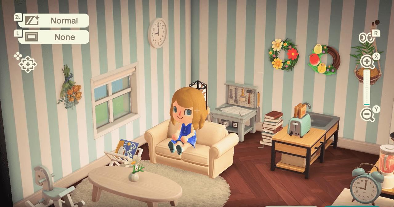 New Leaf Living Room Animal Crossing - RUNYAM on Animal Crossing New Horizons Living Room Ideas  id=64385