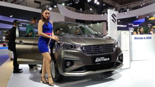 All New Ertiga diluncurkan di Indonesia International Motor Show (IIMS) 2018. (Suara.com/Manuel Jeghesta)