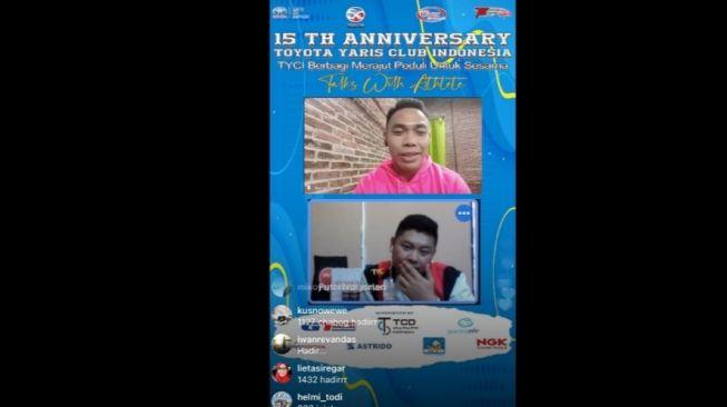 Lifter Indonesia peraih medali perak Olimpiade Tokyo 2020, Eko Yuli Irawan dalam siaran langsung [TYCI]