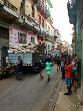 Vardagsbils i centrala Havanna där vi bodde