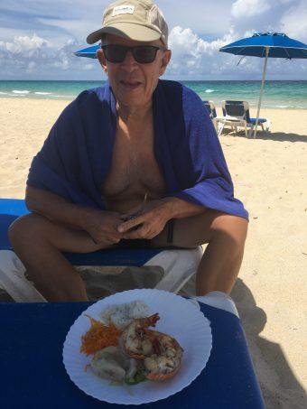 Lobster på beachen