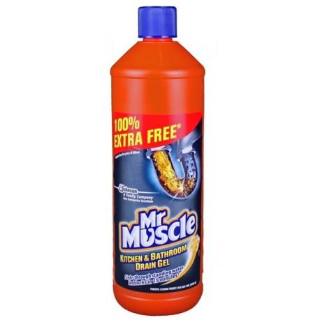 mr muscle liquid gel sink drain cleaner 1l