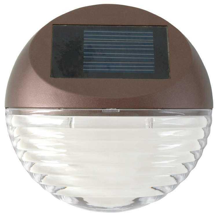 Moonrays 95028 Solar Powered Mini Led Deck Light Bronze Finish