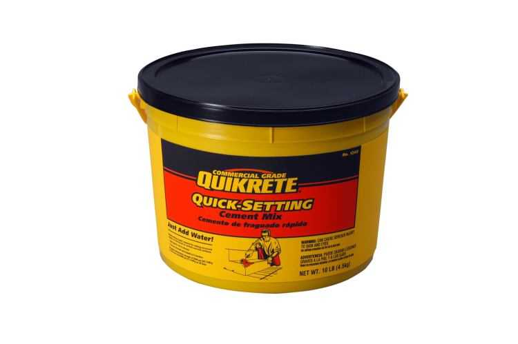 Quikrete Lb Fast Setting Concrete Mix