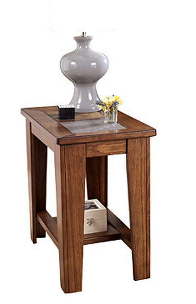 toscana rustic brown chair side end table