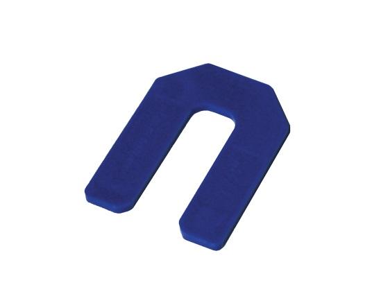 1 8 inch blue horseshoe tile spacer 100 pack