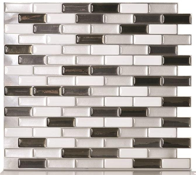 smart tiles metallik peel stick wall tile