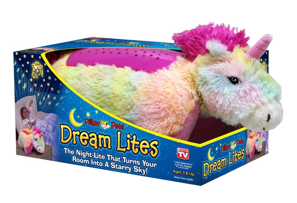 rainbow unicorn pillow pet dream lites