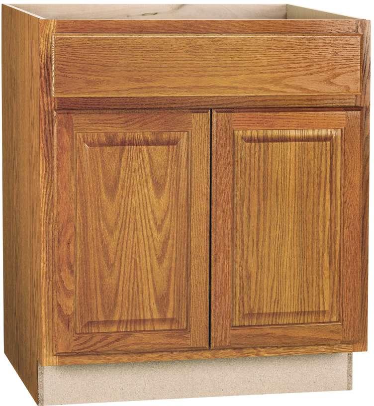 30 x 34 1 2 x 24 inch oak sink base cabinet