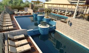 Herceg Novi, Topla – аpartments complex, 23m2-187m2, with four swimming pools