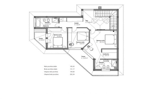 plan kuce Prodaja kuca vila Tivat - Moderna vila sa bazenom i pogledom na more (3)