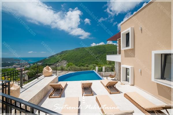 Prodaja vila Budva - Vila sa bazenom i panoramskim pogledom na more i Sveti Stefan