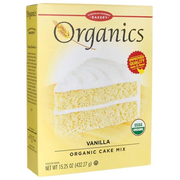 European Gourmet Bakery Organics Cake Mix Vanilla 1525
