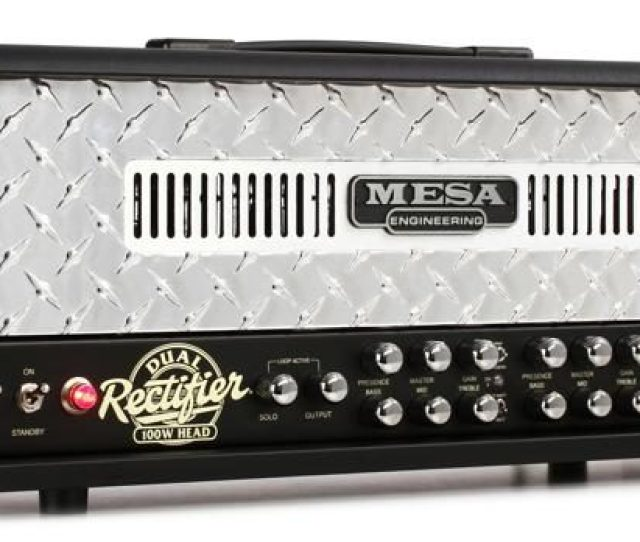 Mesa Boogie Dual Rectifier 100 Watt Tube Head Diamond Faceplate Image 1