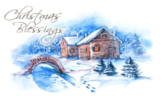 Christmas Blessings ECard Free Christmas Cards Online