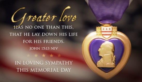 Purple Heart Ecard Free Memorial Day Cards Online