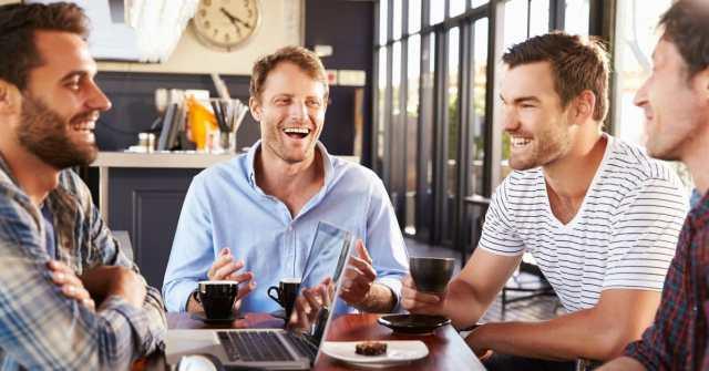 men having a good time