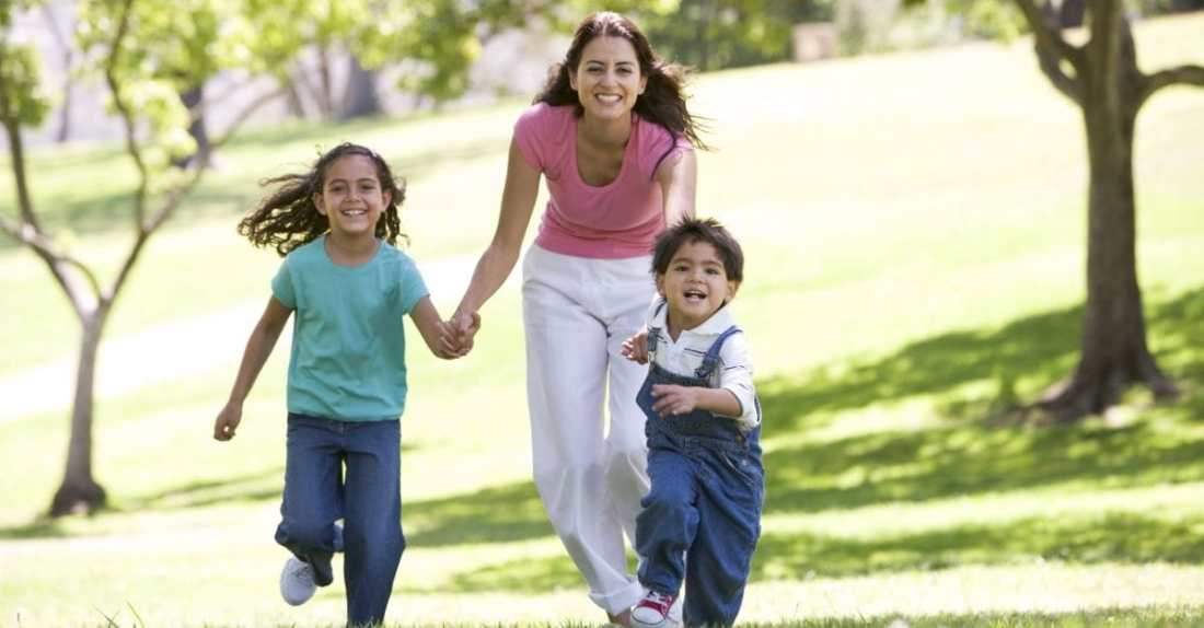 Image result for mom and kids having fun