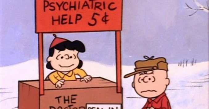 Image result for charlie brown psychiatric booth