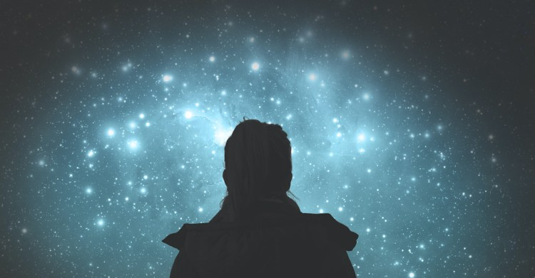 silhouette of woman looking out at starry night sky, psalm 139 lessons