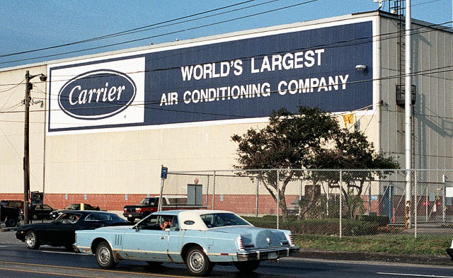 Sign Of Change Name Comes Down From Carrier Corp Factory