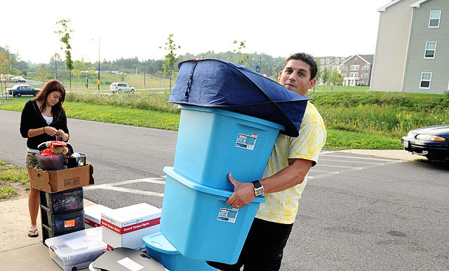 Onondaga Community College students move into dorms on ... on Sierra College Dorms  id=23125