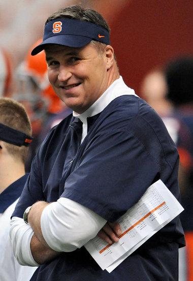 Syracuse University football coach Doug Marrone joins the ...