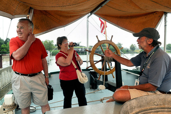 Lois McClure Schooner Docks at Syracuse Inner Harbor Commemorating 1813, the Second Year of the War of 1812