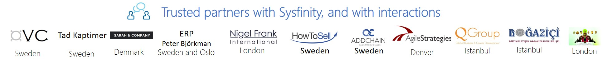 Sysfinity and digital trusted partners with interactions