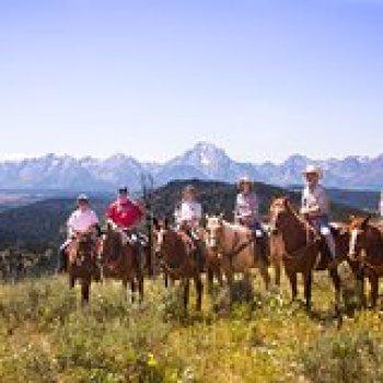 Wyoming Wyoming Horseback Riding in the Bridger-Teton National Forest 38400P2