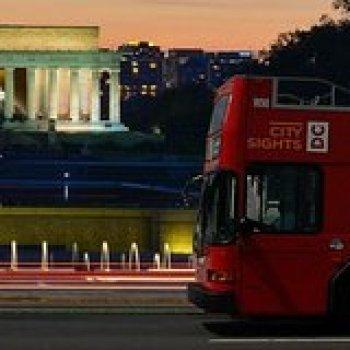 Washington DC District of Columbia Washington DC Double Decker Bus Guided Night Tour 6487NIGHT