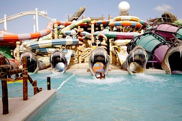 Dubai Yas Waterworld and Ferrari World Private Day Trip with Entrance Tickets