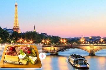Paris Seine River Evening Cruise with French Cold Cuts, Cheeses Board & Wine
