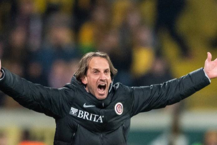 Woe's coach Ruediger Rehm was terribly upset.