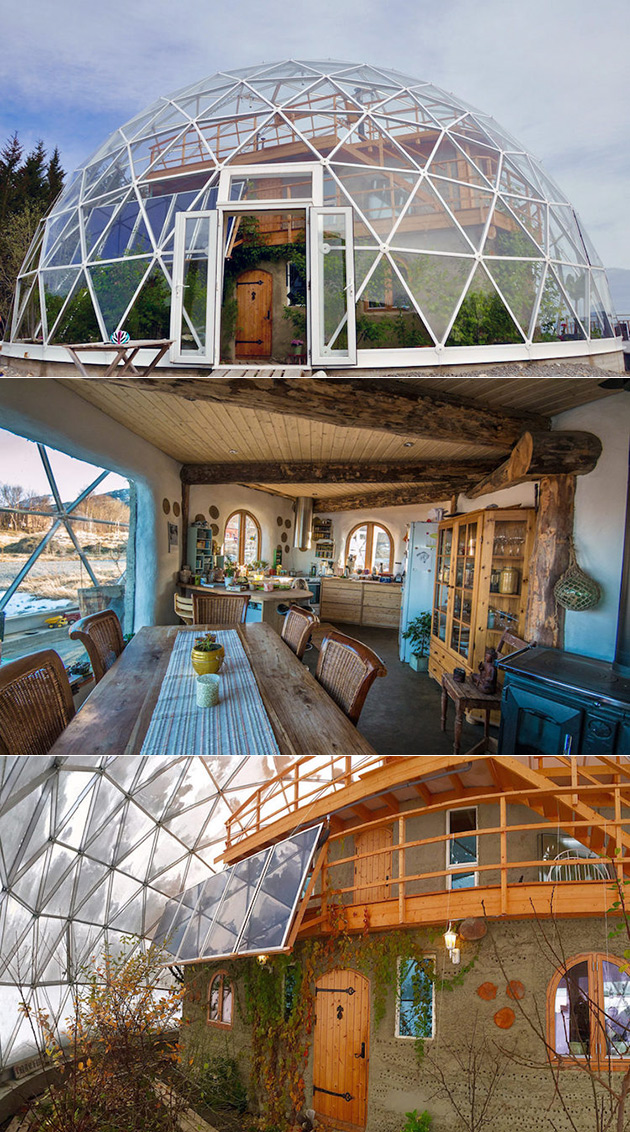 Family Builds Solar Powered Nature Home Under Geodesic