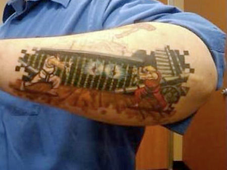 You've seen some interesting geek tattoos, now check out their video game