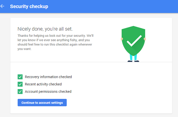 Google Drive Security Check