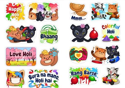 Viber Holi Stickers