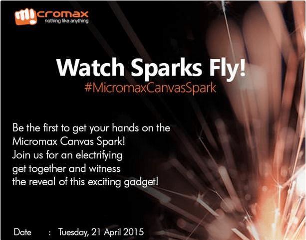 Micromax Canvas Spark Invite