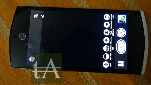 Micromax Canvas Selfie Camera Interface