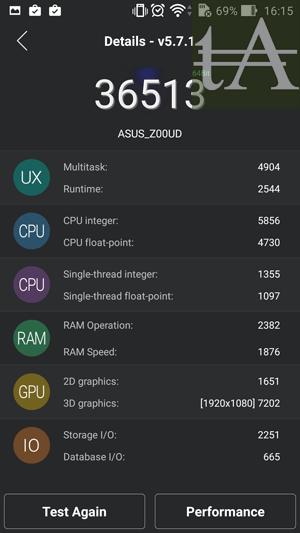 Asus ZenFone Selfie Benchmark AnTuTu