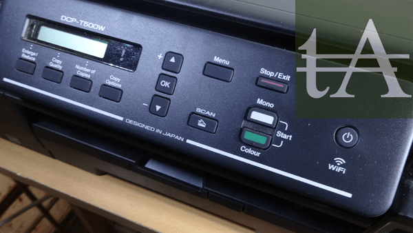 Brother- DCP T500W Control Panel