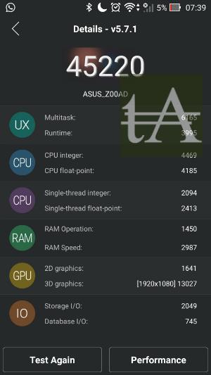 Asus ZenFone 2 Deluxe AnTuTu