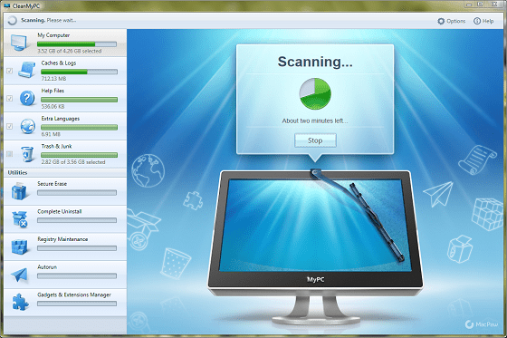 CleanMyPC_Scanning