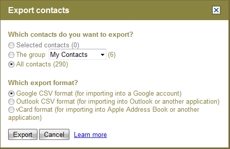 Gmail_Contact_Export_Contacts_Options