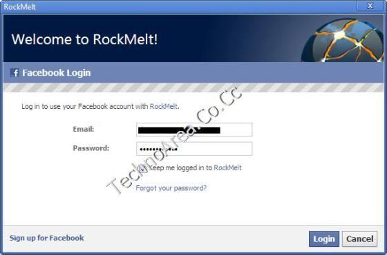 RockMelt_FaceBook_Login