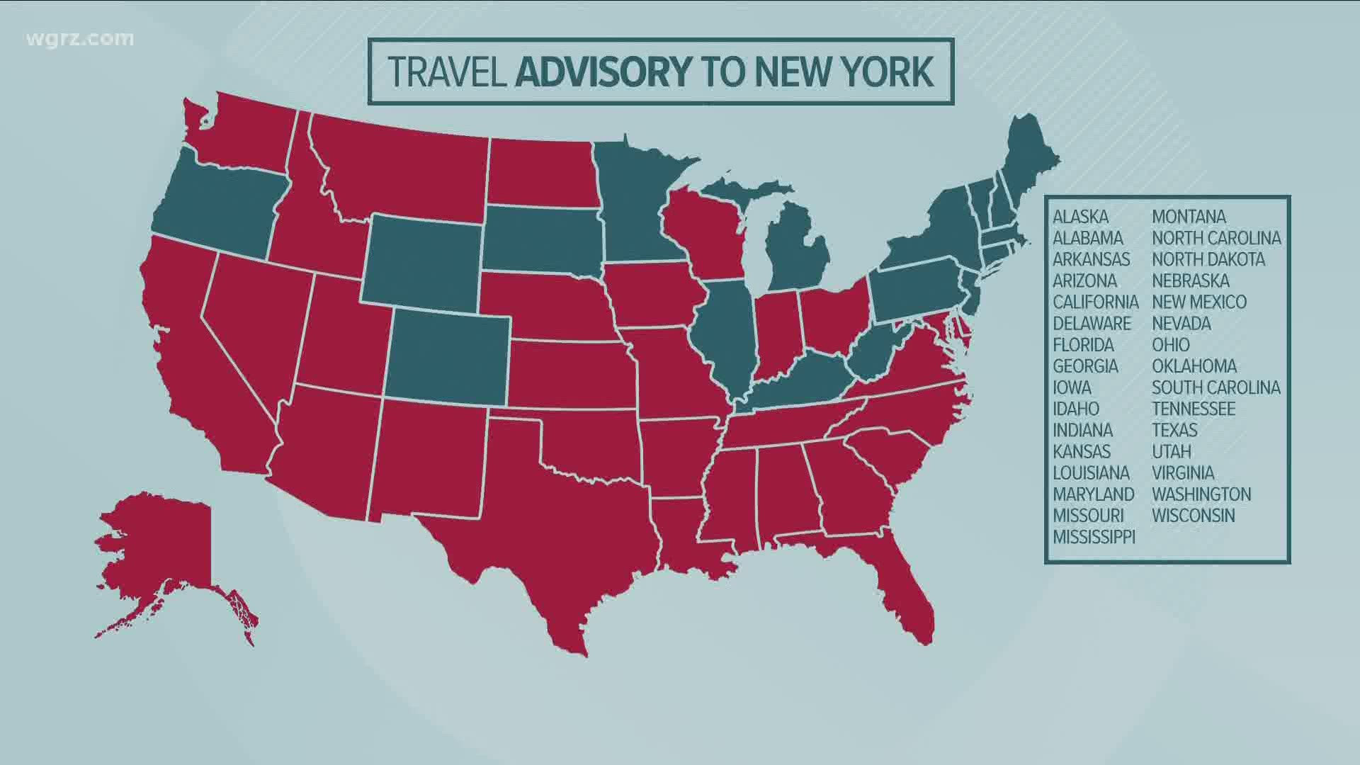 More States Added To Nys Travel Advisory
