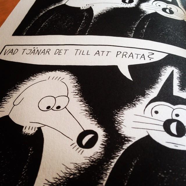 Instagram media by litteraturmagazinet - Älska Gunnar Lundkvists uppfriskande icke-muntra Klas Katt #serier #hyllning / #seb_lm
