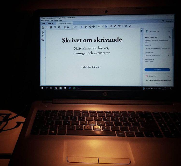 Kvällskorr #skrivabok #skrivetomskrivande #korrektur