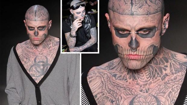 Hallan muerto a famoso modelo cuyos tatuajes eran récord mundial